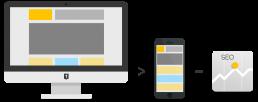 Schéma de site responsive avec bénéfice seo