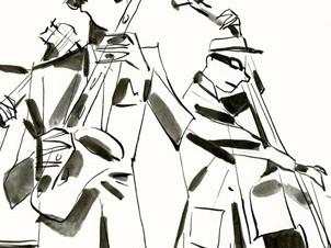 Dessin de musiciens jazz
