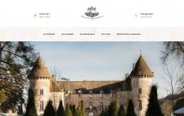 Design de la page d'accueil du Château
