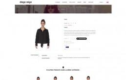Design d'une page produit de la marque