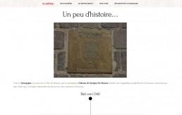 Design de la page historique du Château