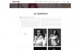 Design de la page d'histoire de la marque