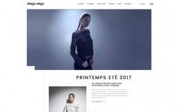 Design de la page d'accueil de la marque