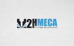 Mock up impression logo usinage