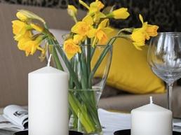 Décoration bougie, fleurs