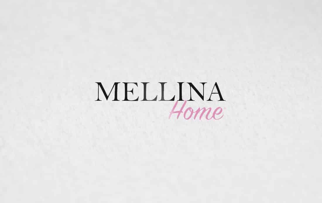 mockup logo Mellina Home décoration intérieur