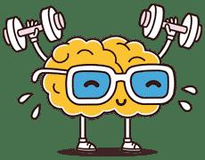 Cerveau faisant de la musculation
