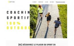 Entête du design web de la page d'accueil Oxytude sport