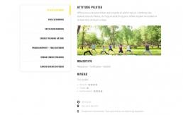 Webdesign des différents circuits sportifs d'Oxytude