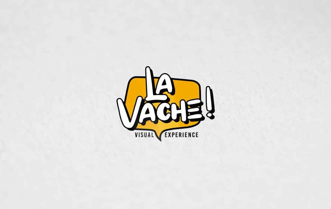 Mockup d'une création de logo pour une agence de communication visuelle