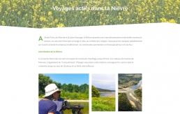 Entête du design web d'une destination voyage pour Noscherescampagnes
